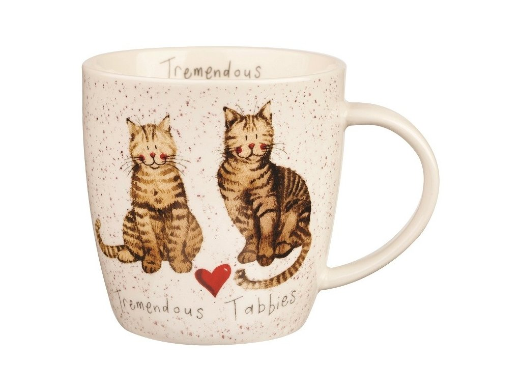 Mourek, Tremendous tabbies - porcelánový hrnek s motivem kočky, Alex Clark, 400 ml