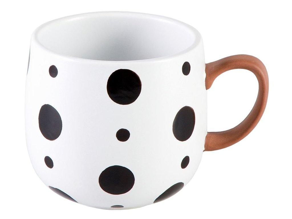 Hedda - keramický hrnek 0,35 l, buclák, puntíky
