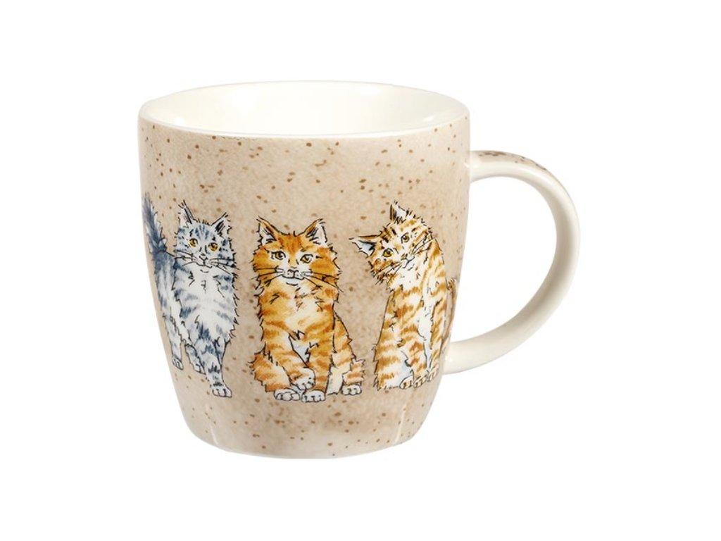 Mourci, Tiger cats - porcelánový hrnek s motivem kočky, 0,4 l Couture