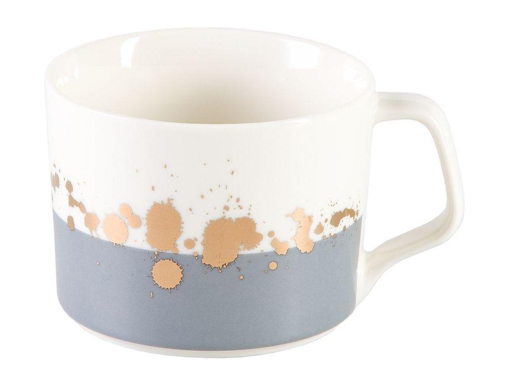 Alcinda - porcelánový hrnek 0,35 l, šedý