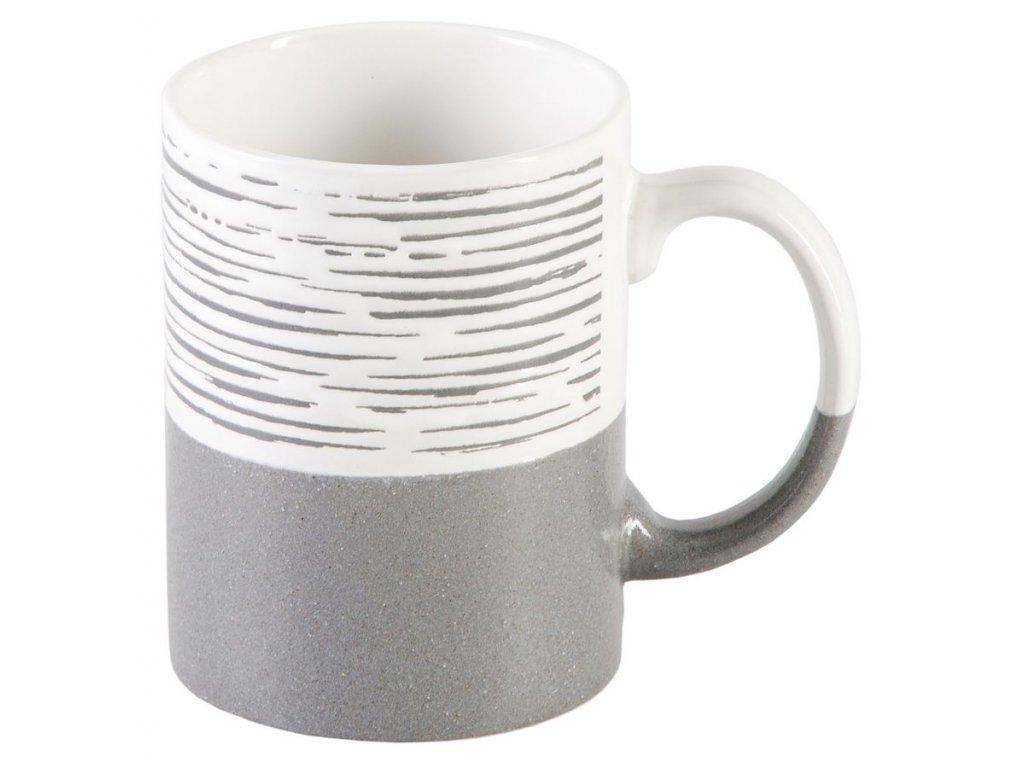 Milos - keramický hrnek 0,3 l, proužek, šedý