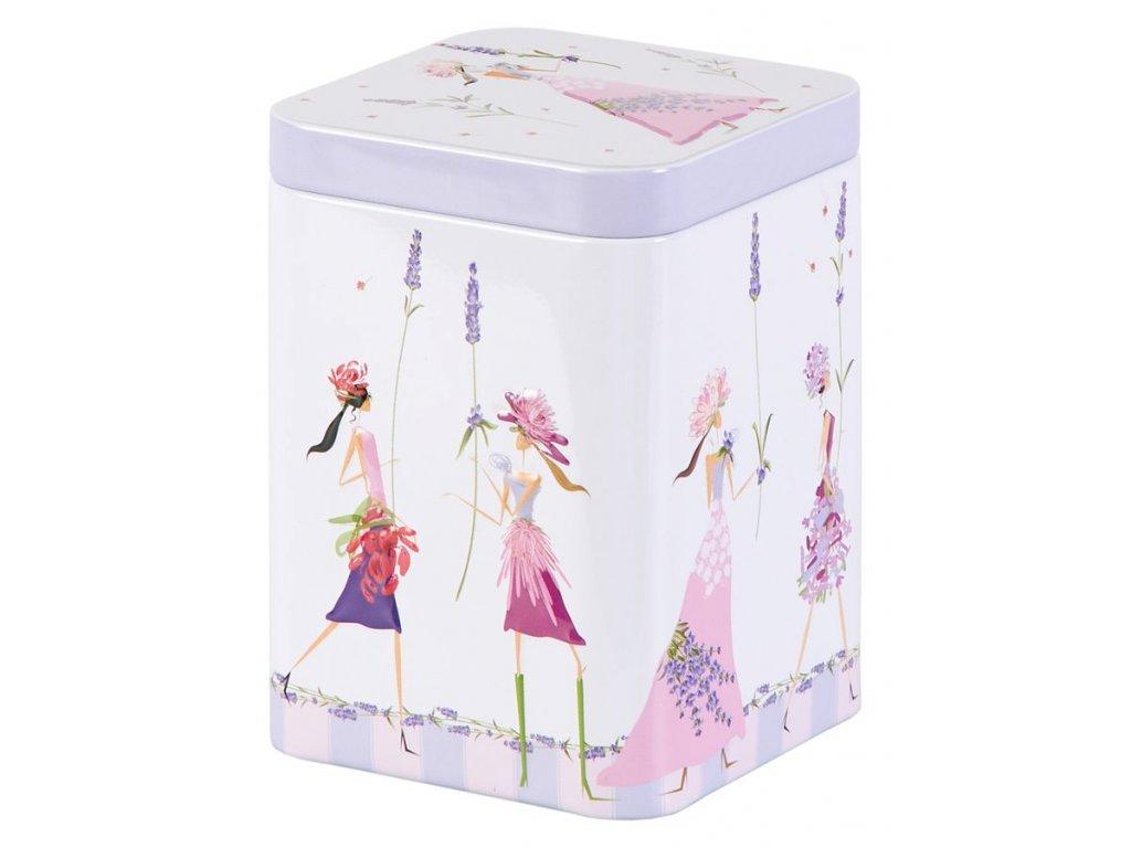 Flower Girls - plechová dóza 100 g, motiv levandule