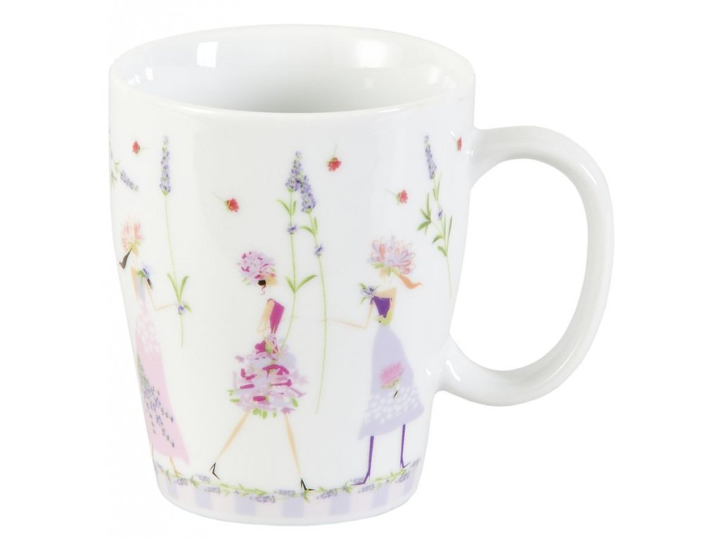 Flower Girls - porcelánový hrnek 0,25 l, motiv levandule