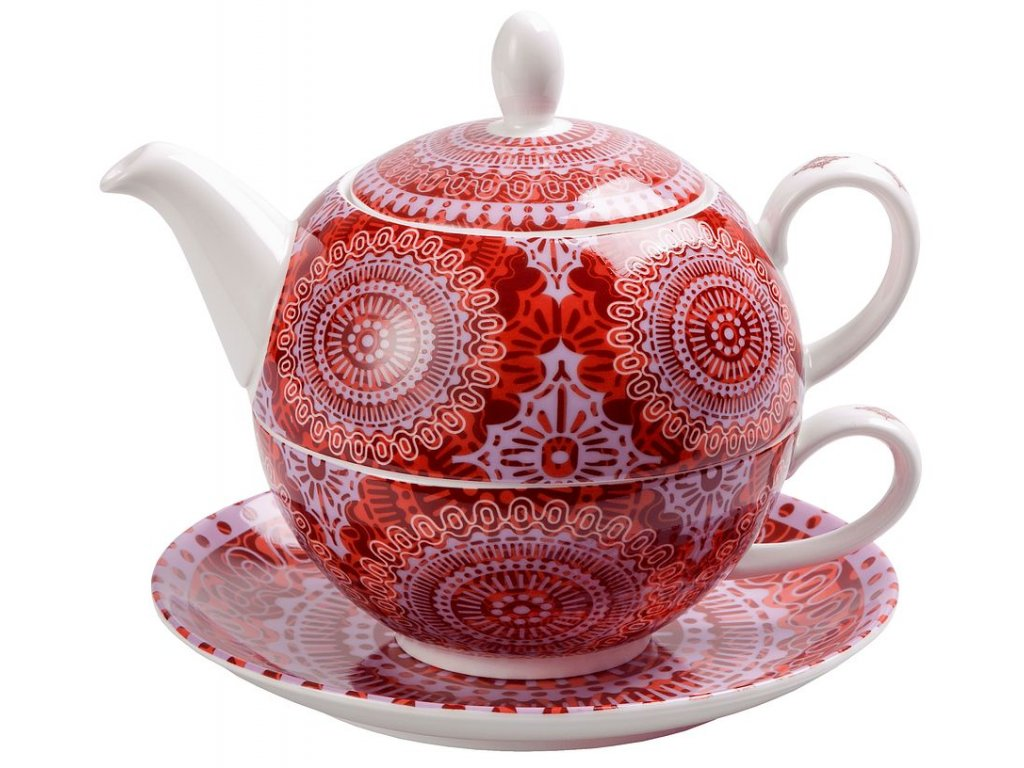 Sonji - Fine Bone China, Tea for one, čajová porcelánová souprava 0,25 l /0,5 l s mandaly