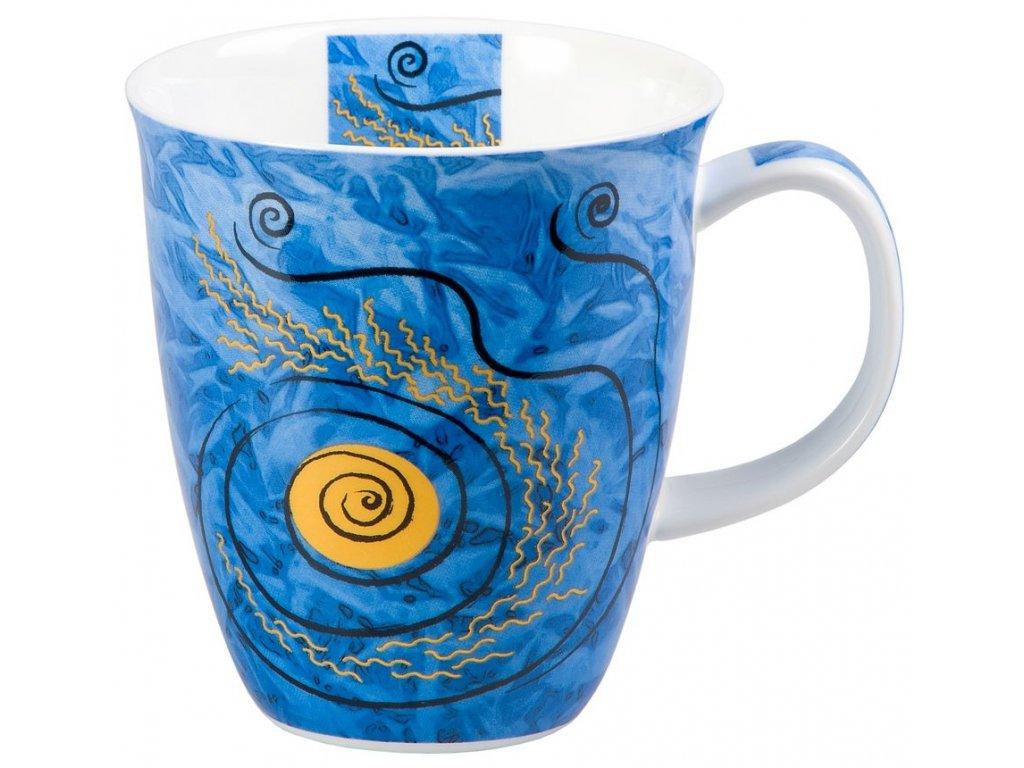 Four Elements Voda - Fine Bone China porcelánový hrnek 0,38 l, modrý