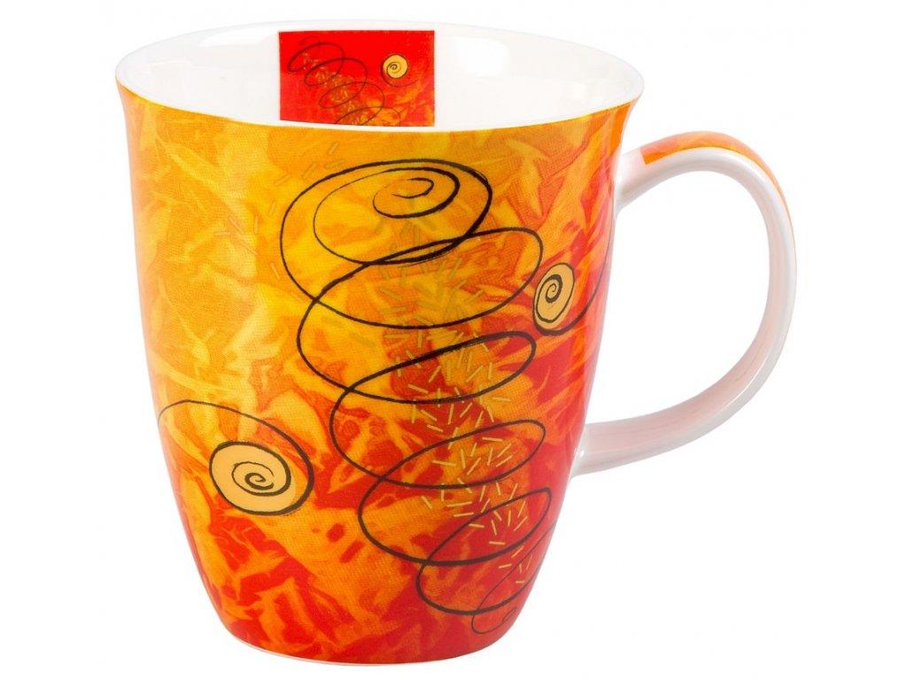 Four Elements Vzduch - Fine Bone China porcelánový hrnek 0,38 l, oranžovo-červený