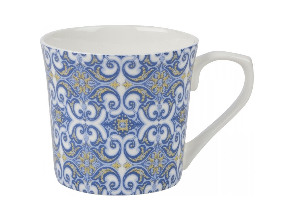 Portugal tudor - porcelánový hrnek 0,28 l, modrý