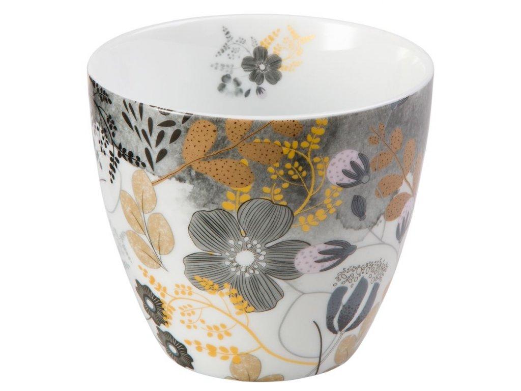 Astrid - Fine Bone China porcelánový hrnek bez ucha, 0,3 l, květiny