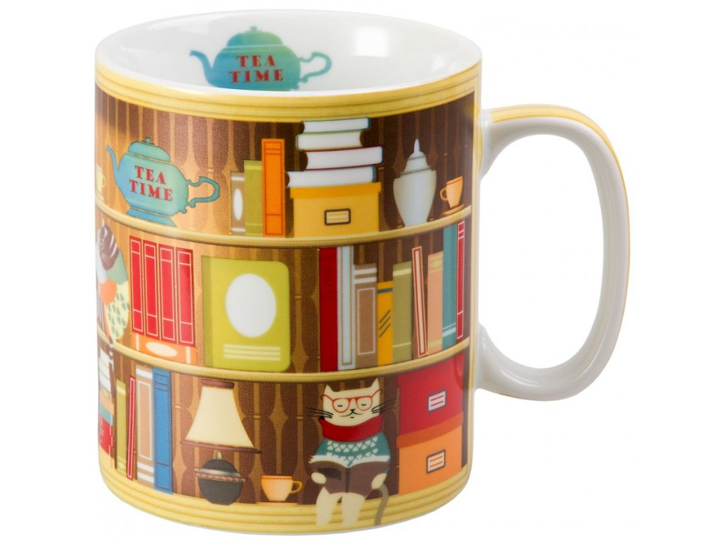 Harold - porcelánový hrnek 0,75 l, knihovna