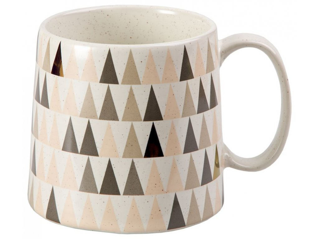 Janina - keramický hrnek 0,45 l, trojúhelníky