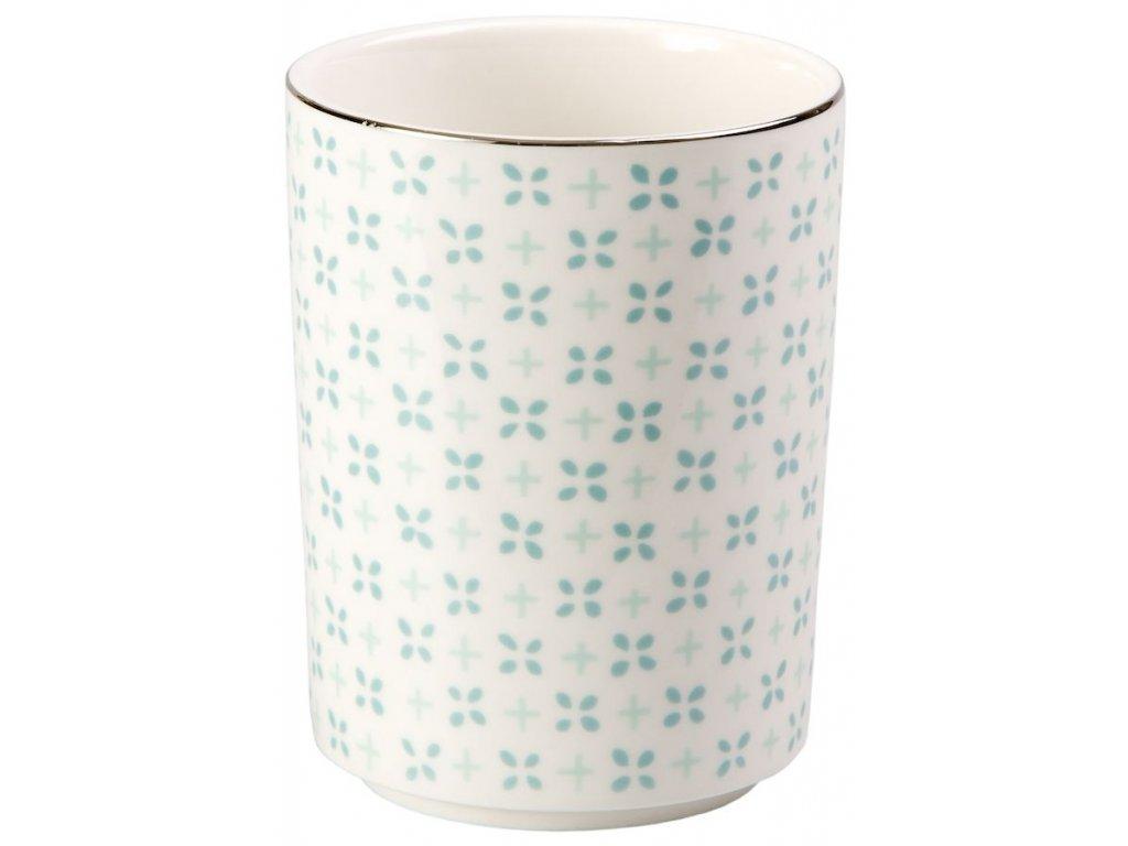 Hella - porcelánový hrnek bez ouška 0,2 l, lístky