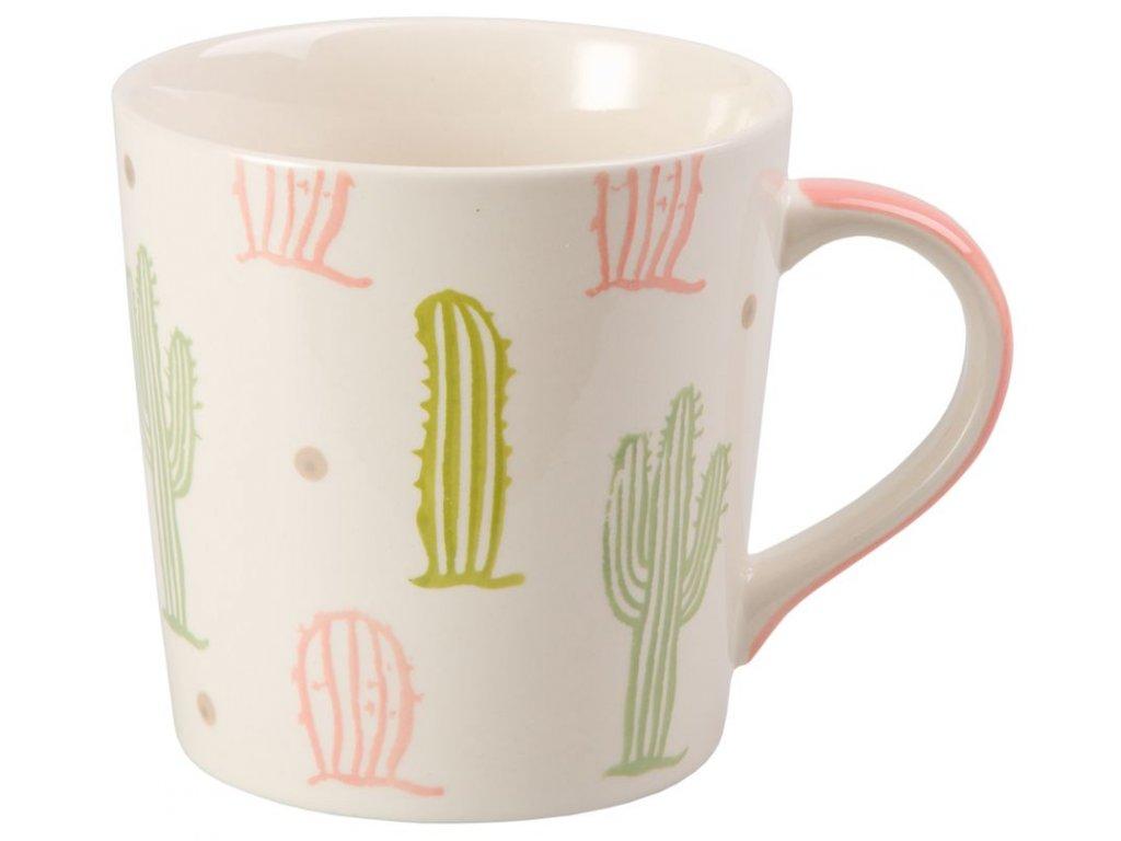 Kaktus - keramický hrnek 0,4 l, růžový