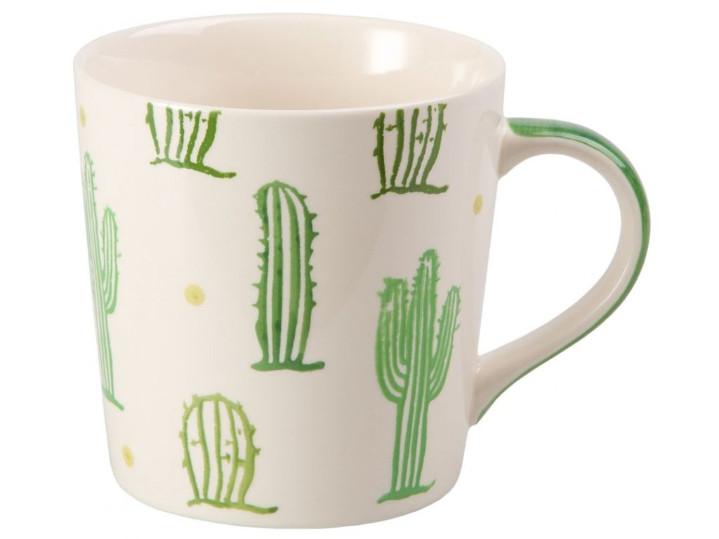 Kaktus - keramický hrnek 0,4 l, zelený