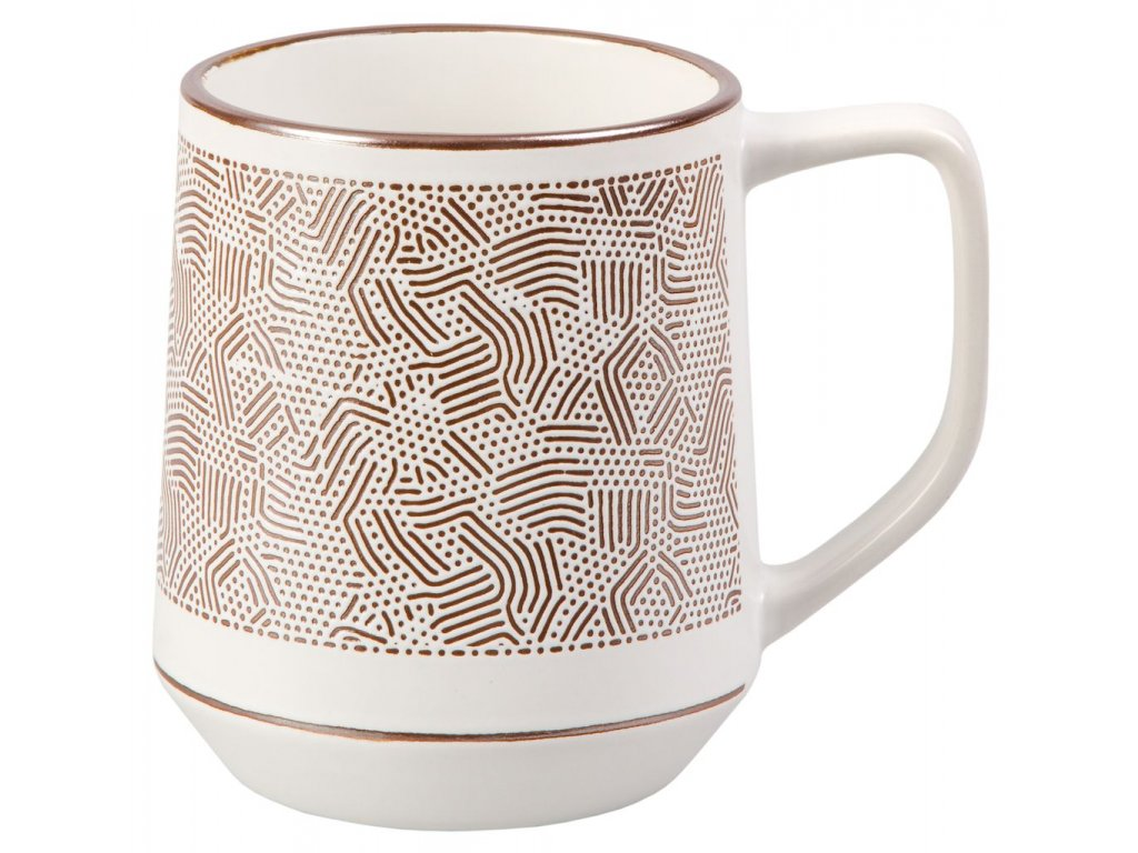 Wanda - keramický hrnek 0,5 l, mozaika, bronzový