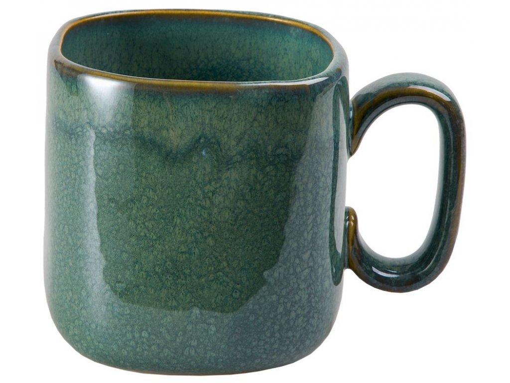 Halvar - keramický hrnek 0,45 l, modrozelený
