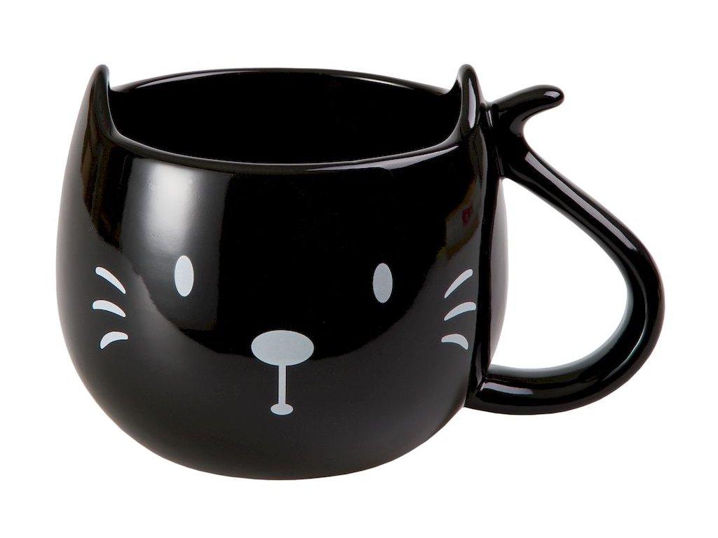 Trixi - keramický hrnek 0,3 l, černý, kočka