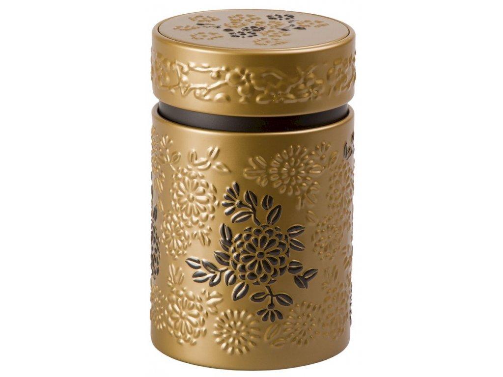 Yumiko - plechová dóza 150 g, zlatá