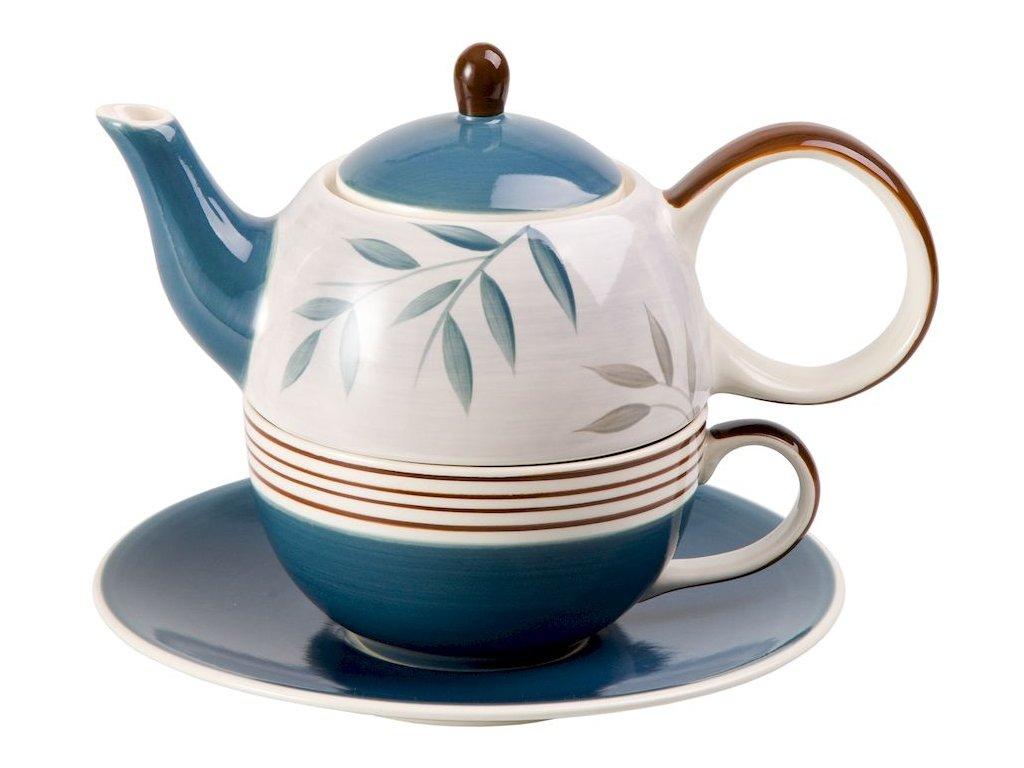 Jesse - keramická čajová souprava 0,2 l/0,4 l, tea for one, motiv lístky