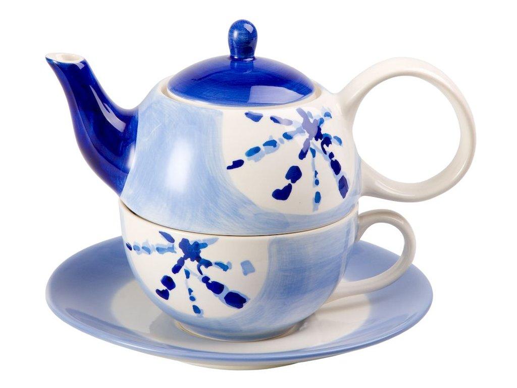 Darrell - keramická čajová souprava 0,2 l/0,4 l, tea for one, modrá