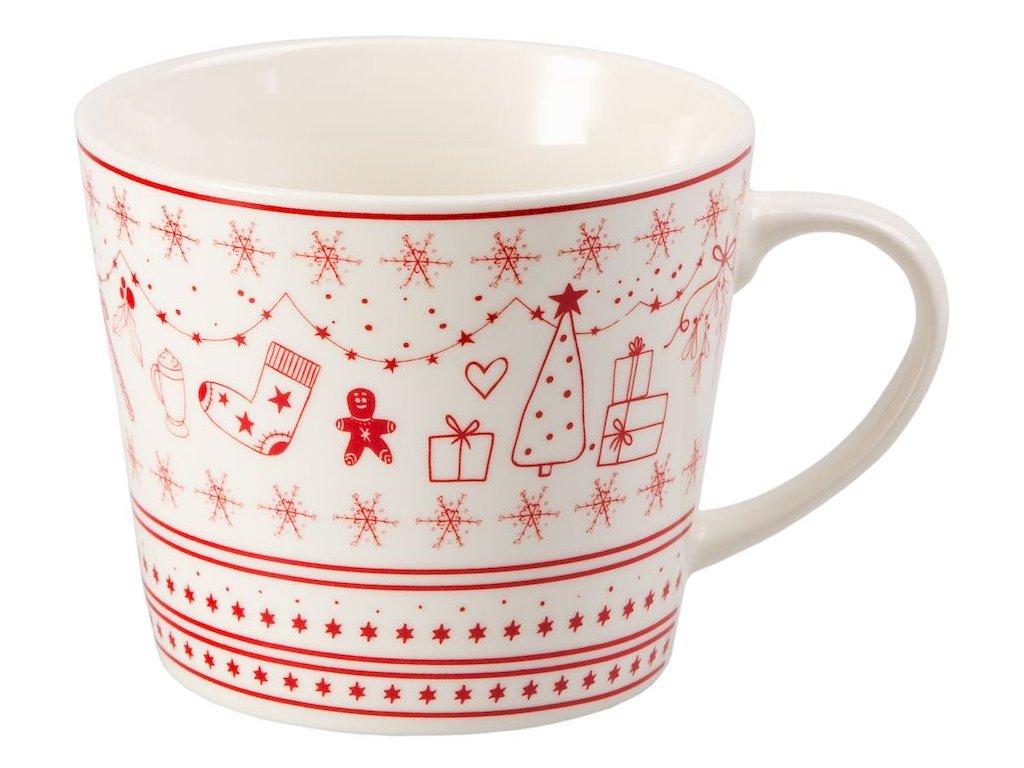 Julefest - Fine Bona China porcelánový hrnek 0,4 l, vánoční