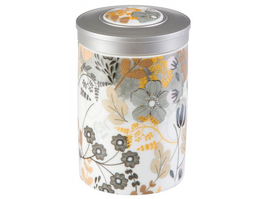 Astrid - Fine Bone China porcelánová dóza 100 g, květiny