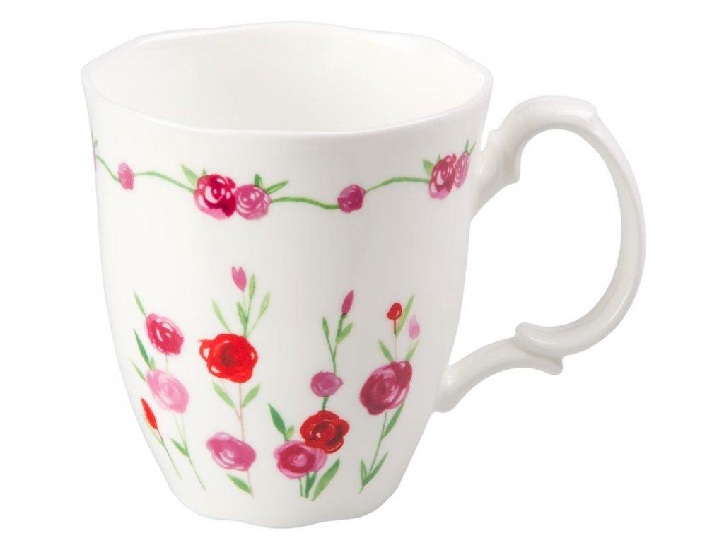 Rosalie - Fine Bone China porcelánový hrnek 0,35 l, květiny, růže