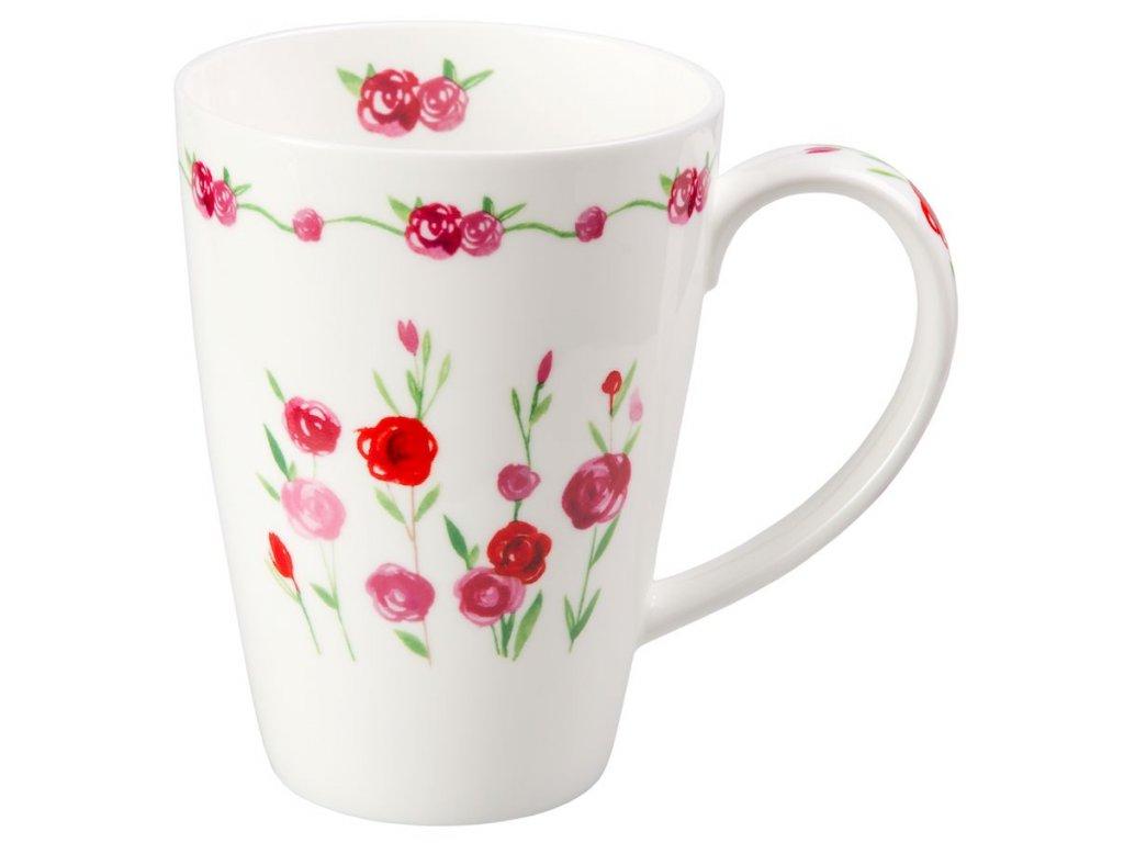 Rosalie - Fine Bone China porcelánový hrnek 0,5 l, květiny, růže