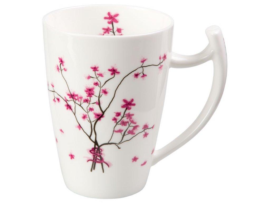 Cherry Blossom - Fine Bone China porcelánový hrnek 0,5 l, třešeň