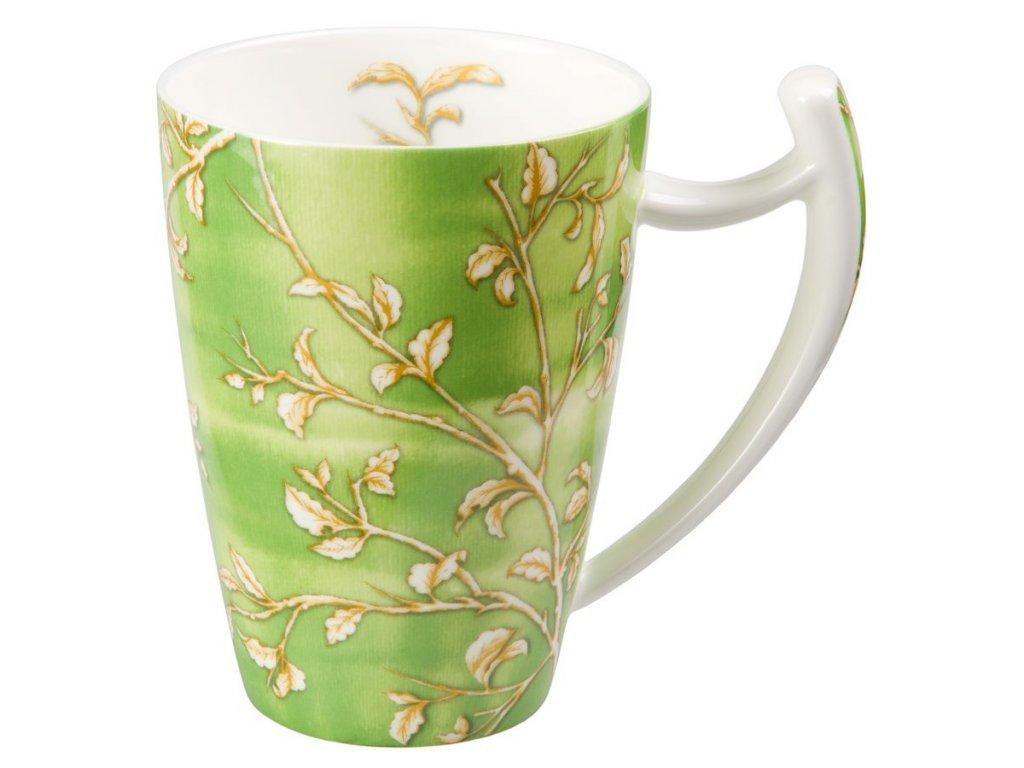 Yasmin - Fine Bone China porcelánový hrnek 0,5 l, zelený