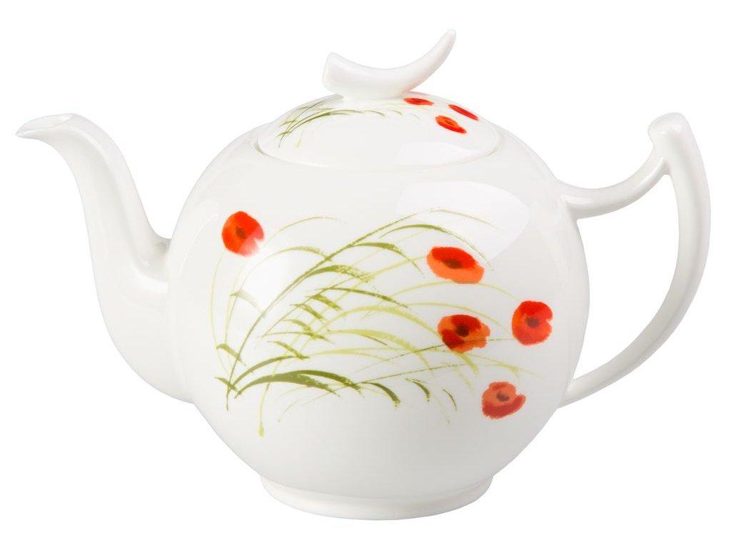 Caprice - Fine Bone China porcelánová čajová konvice 1 l, vlčí mák