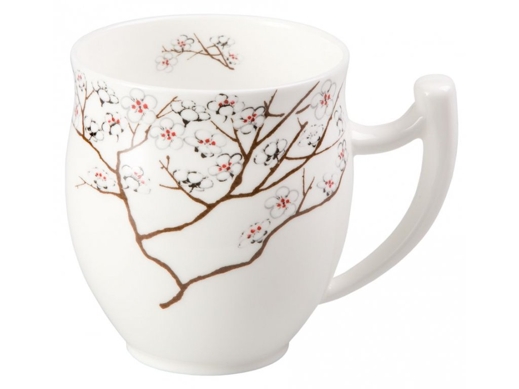 Bílá třešeň - Fine Bone China porcelánový hrnek 0,35 l