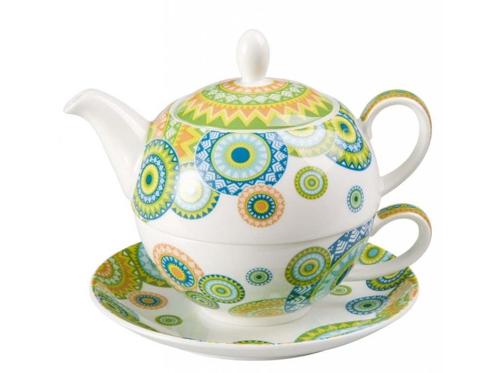 Ramon - Tea for one, Fine Bone China, čajová porcelánová souprava 0,25l /0,5 l, mandaly