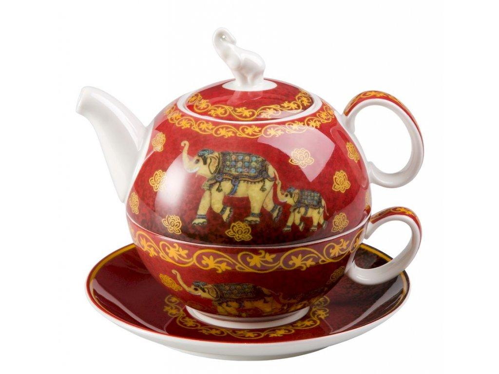 Nelson - Tea for one, Fine Bone China, čajová porcelánová souprava 0,25l /0,5 l, slon