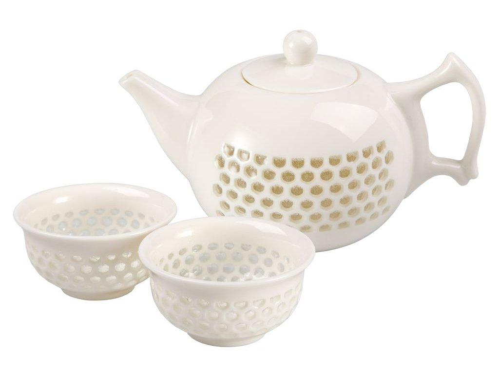 Mani - porcelánová čajová souprava 0,2 l/0,05 l, bílá