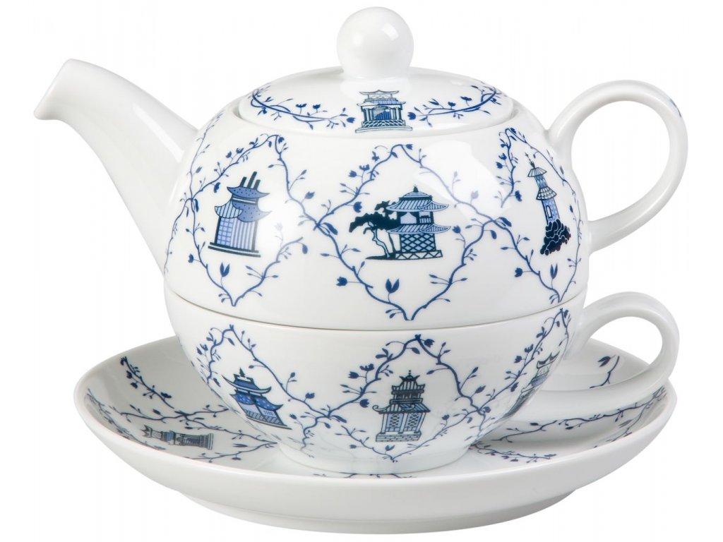 Lanyu - porcelánová čajová souprava 0,2 l/0,6 l, tea for one, asijský motiv