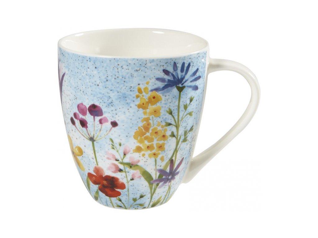 Bouquet  - porcelánový hrnek 0,5 l, Aquarelle, modrý, květiny