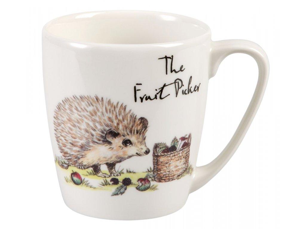 The Fruit picker - Fine China, porcelánový hrnek 0,3 l, ježek sběrač ovoce
