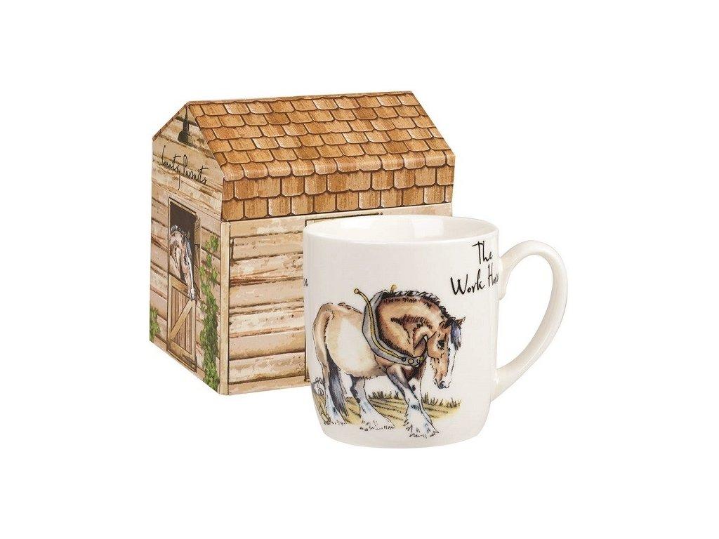 The Work horse  - Fine Bone China, porcelánový hrnek 0,3 l v dárkové krabičce, pracovní kůň
