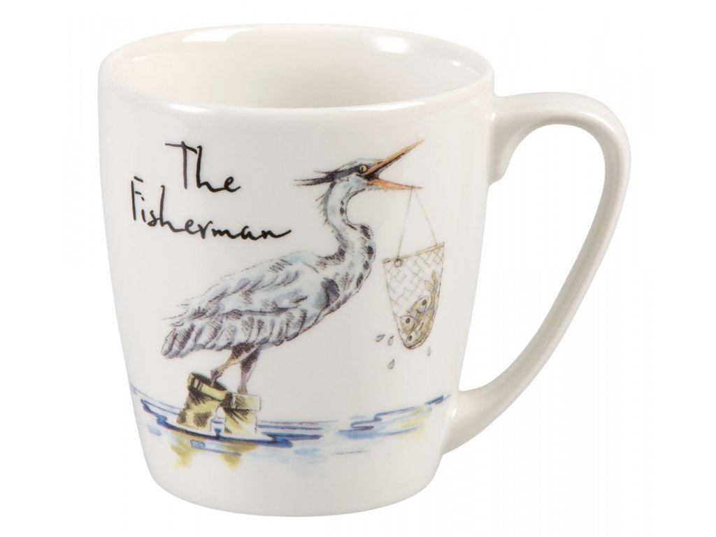 The Fisherman  - Fine China, porcelánový hrnek 0,3 l, volavka rybářka
