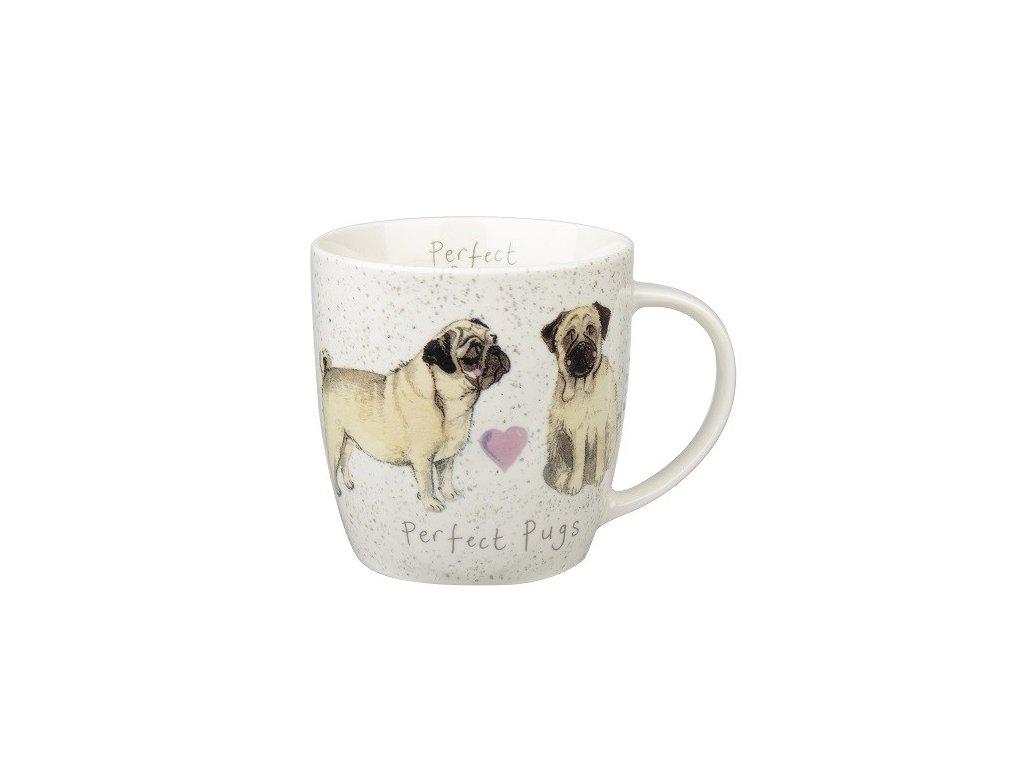 Mops- porcelánový hrnek s motivem psa, Alex Clark, 0,4 l