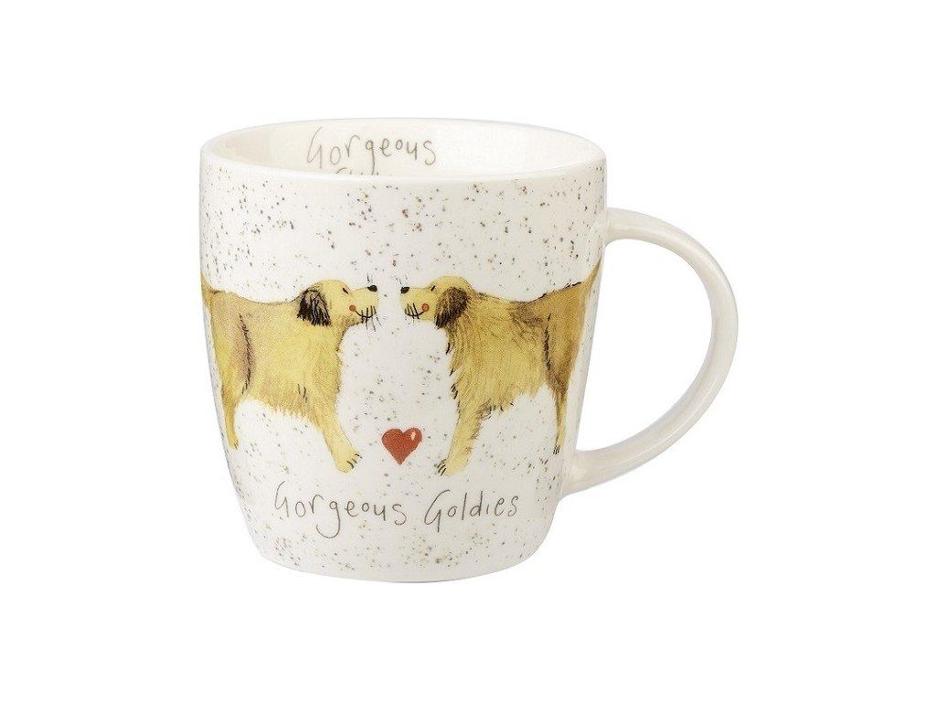 Zlatý retrívr - porcelánový hrnek s motivem psa, Alex Clark, 0,4 l