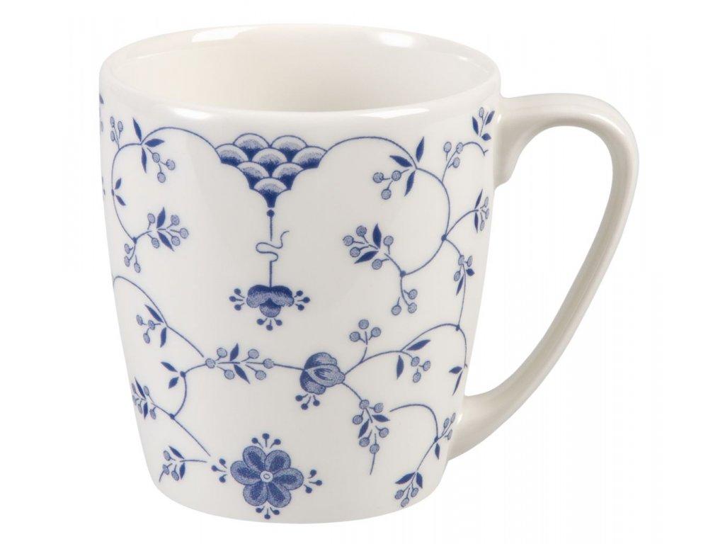 Finlandia - Fine China, porcelánový hrnek 0, l, modrý, bílý, květiny
