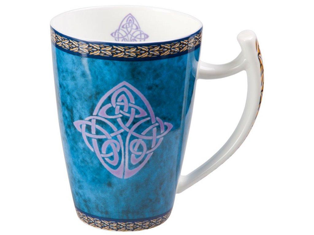 Celtic - Fine Bone China porcelánový hrnek 0,5 l, modrý, keltský uzel