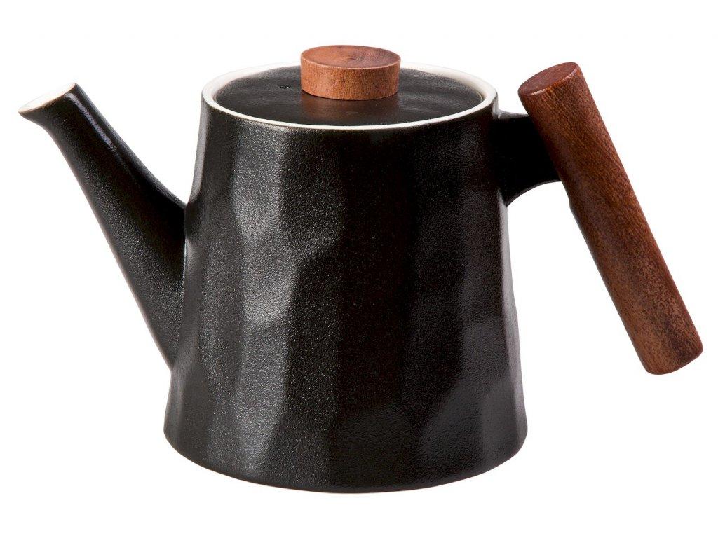 Debra - Porcelánová čajová konvice 1,2 l, černá