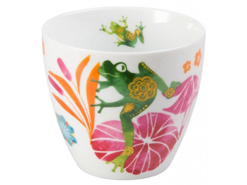 Fritz - Fine Bone China porcelánový hrnek bez ucha, 0,3 l, žába