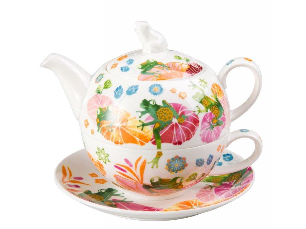Fritz - Tea for one, Fine Bone China, čajová porcelánová souprava 0,25l /0,5 l, žába