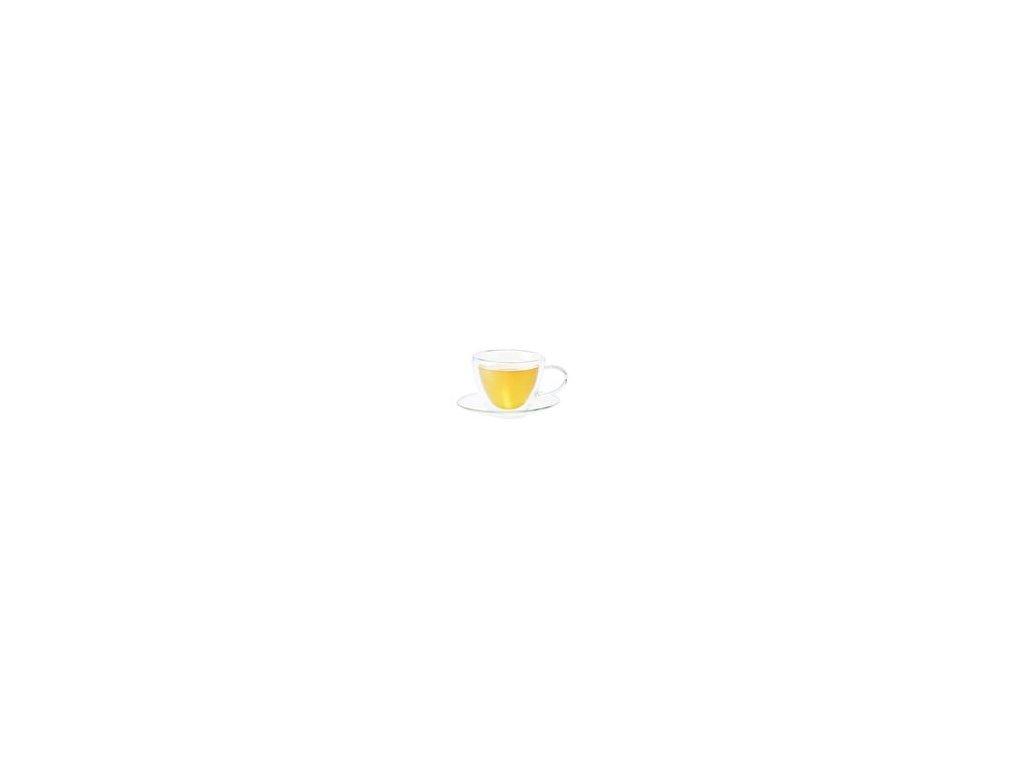 Tjure - skleněný šálek s podšálkem 0,18 l