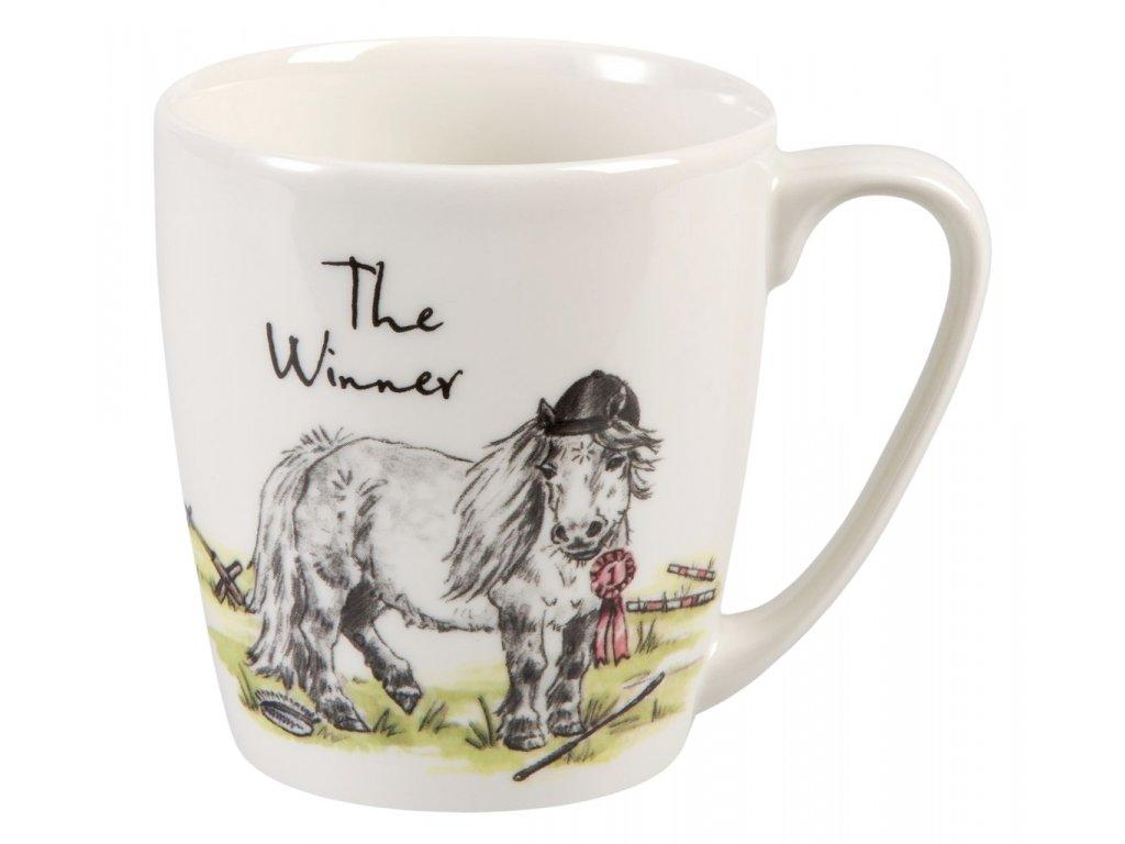 The Winner - Fine China, porcelánový hrnek 0,3 l, kůň vítěz