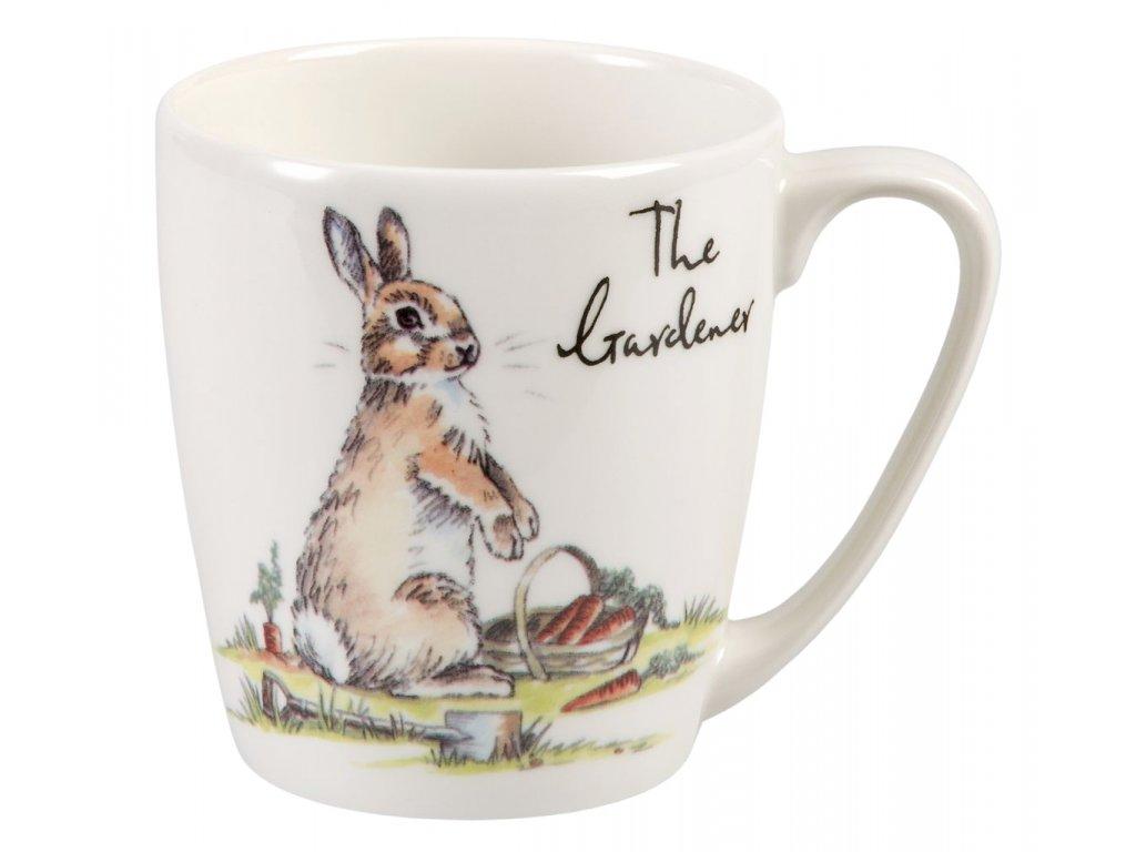 The Garneder - Fine China, porcelánový hrnek 0,3 l, králík zahradník