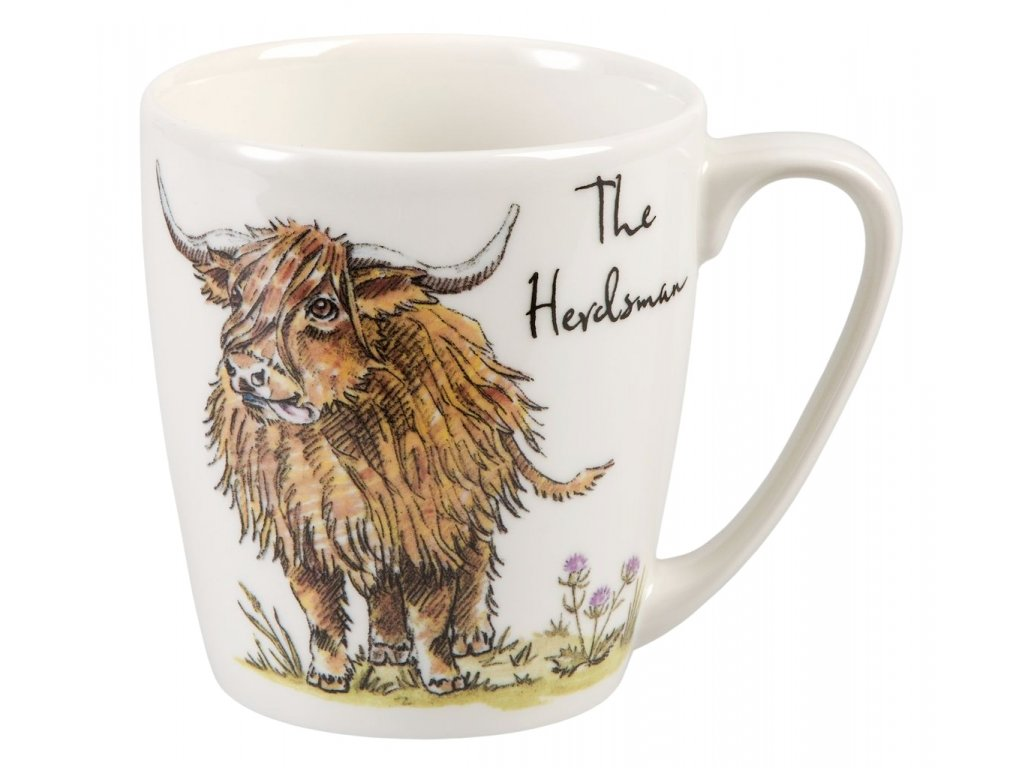 The Herdsman - Fine China, porcelánový hrnek 0,3 l, skot pastýř